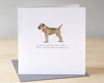 Border in bow tie card. Free P&P