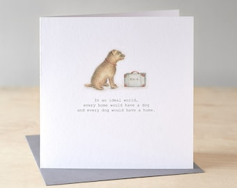 Rescue dog greetings card.Free P&P