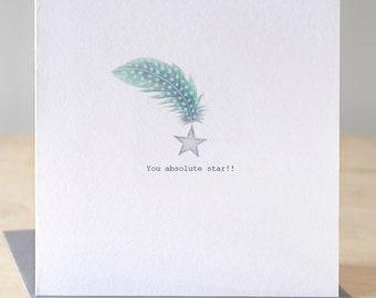 Absolute star card. Free P&P