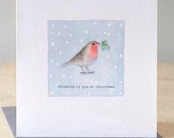 Robin Christmas card. Free P&P