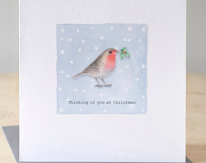 Featured listing image: Robin Christmas card. Free P&P