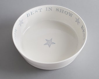 'Best in Show' bone china dog bowl. Free P&P
