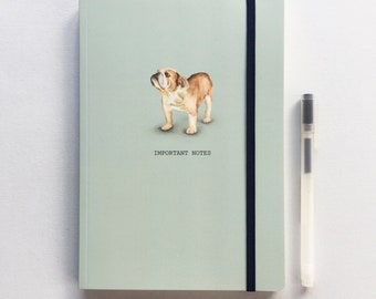 A5 lined luxury Notebook. Bulldog. Free P&P