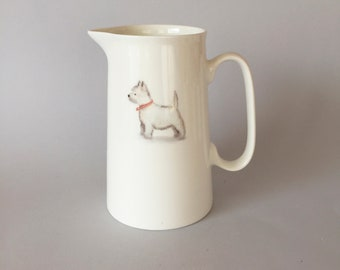 Bone china Westie jug.   Free P&P