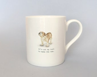 Bone china Bulldog mug.   Free P&P