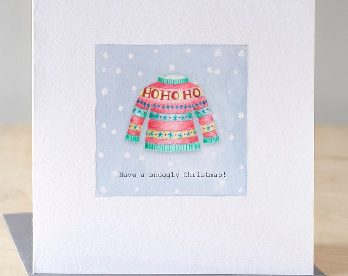 Featured listing image: Christmas jumper card. Free P&P