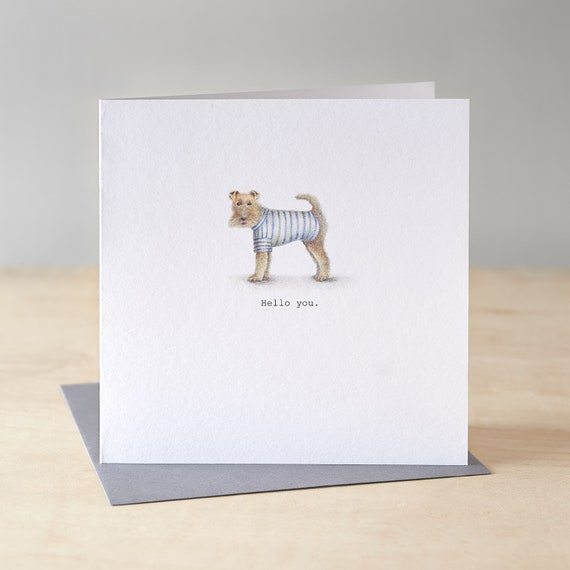 Funny terrier card