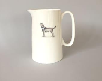 Bone china labrador jug.   Free P&P