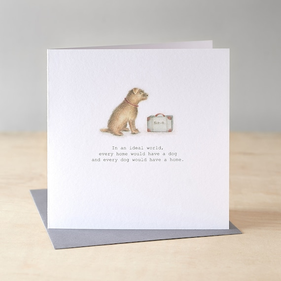 Rescue dog greetings card
