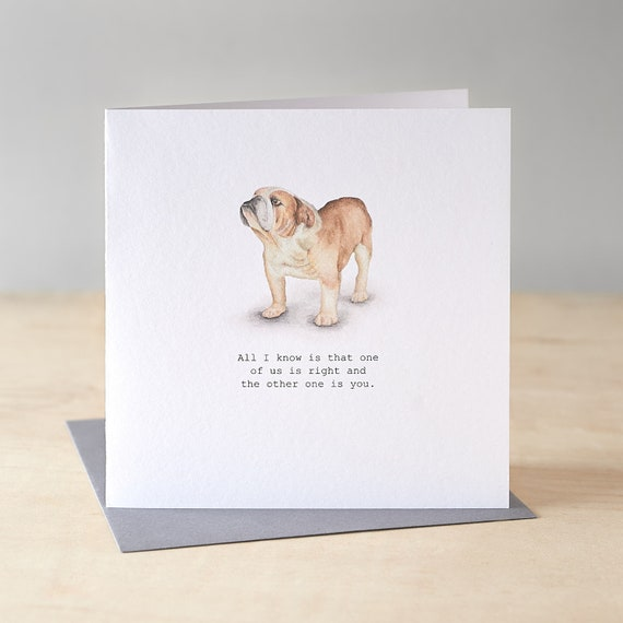 British bulldog greetings card