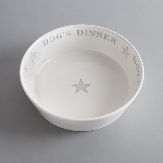 'Dog's Dinner' bone china dog Bowl