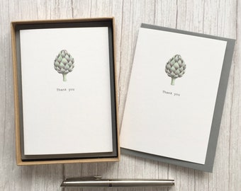 Thank You cards with artichoke. Free P&P