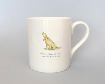 Yellow labrador mug.  Free P&P