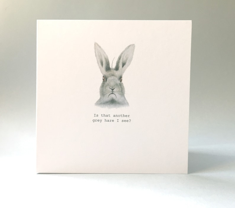 Hare Birthday Card Funny With Lover