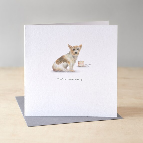 Birthday card with Jack Russell.