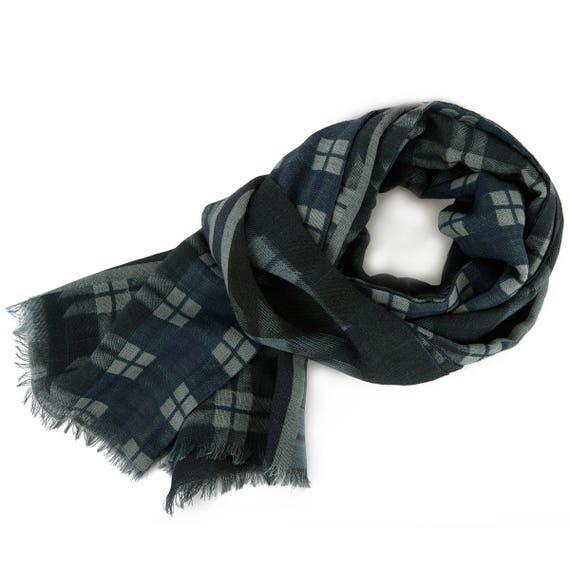 639-2 MEN/'S PAVLOVO POSAD SCARF RUSSIAN TIE CRAVAT WARM CLOTHING 100/% WOOL GIFT