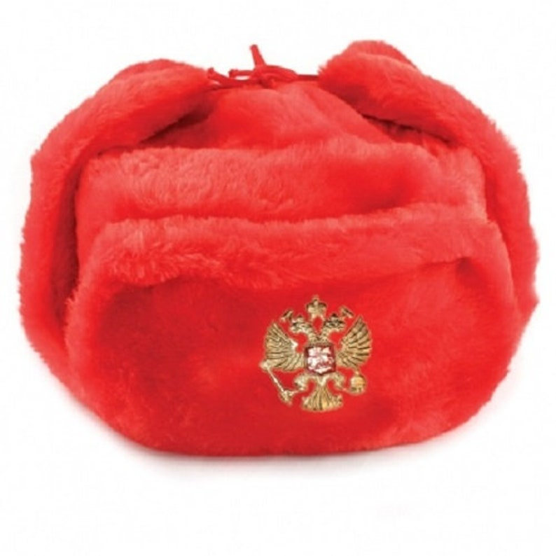 e9e61ebd08986 Ushanka Winter Red Fur Hat Made in Russia USSR Military Soviet