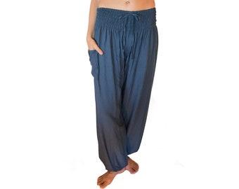 d7cd98060c PIYOGA - Pixie Dust - Ash Blue Gray - Black & White PI Yoga Pants - Boho,  Baggy, Loose, Adjustable, Tall, Petite, Maternity, Travel