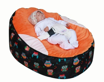 Pre-filled Baby Bean Bag with 2 Removable covers   Safety Harness- UK Seller 2d6f6de90f566