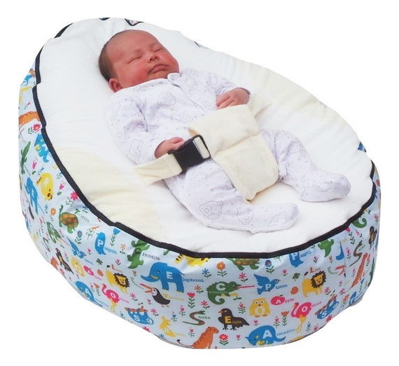 Sensational Pre Filled Baby Bean Bag With 2 Removable Covers Safety Harness Uk Seller Machost Co Dining Chair Design Ideas Machostcouk