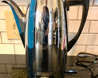 Complete!!! Vintage {Working} Sunbeam Deluxe Electric Percolator Coffeemaker Model AP-8A Made In USA