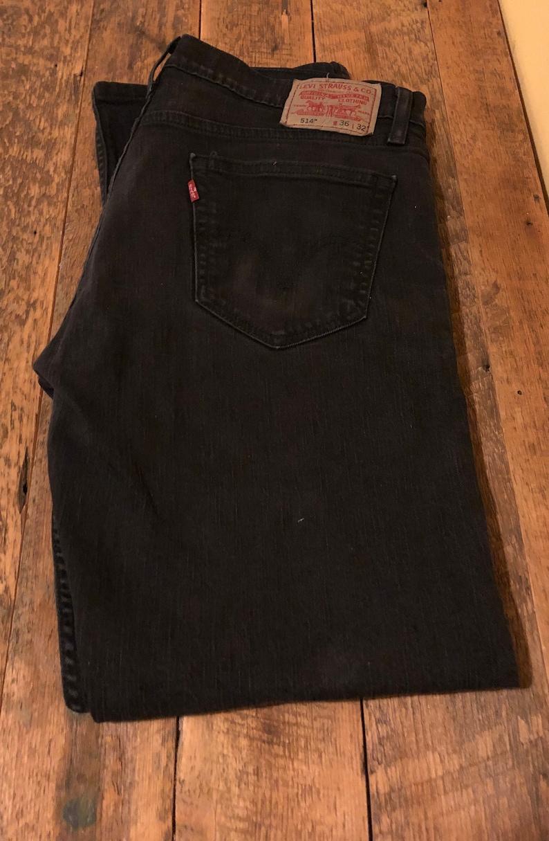 3d99af0ab4f Mens Levi's Black 514 36 x 32 Slim Fit Jeans with light | Etsy
