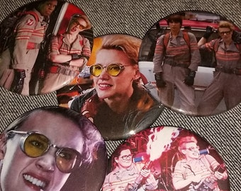 Your choice new Ghostbusters pin Holtzmann handmade pins 2016 movie Kate Mckinnon fan handmade 2-1/4 inch pinback button pin buttons