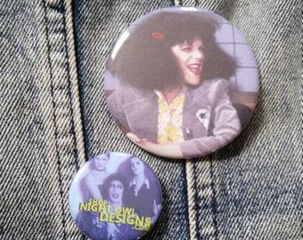 Gilda Radner Saturday Night Live handmade 2-1/4 inch pinback button pin pins buttons pingame badge badges