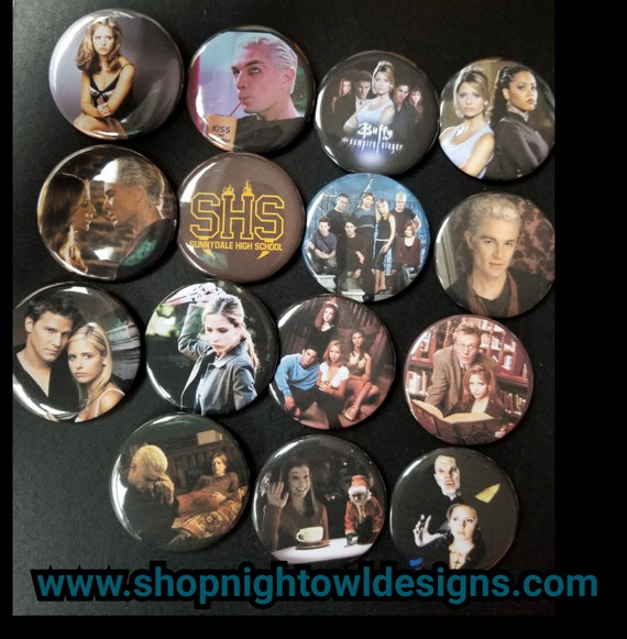 Buffy the Vampire Slayer Pinback Buttons set of 10 Pins