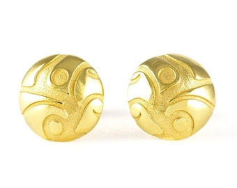SPROUT Earrings gold plated. Made of silver 925. Snap silver closure.