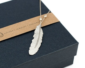 Pendant FEATHER Sterling Silver 925. Pendant Feather. Hippie pendant. Necklace feather. Boho. Silver necklace.