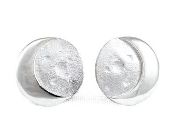 Earrings MOON Sterling Silver 925. Silver earrings moon. Crescent moon earrings. Moon phase. Half moon earrings.