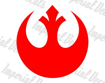 Rebel Alliance/Resistence Symbol Decal Multiple Colors