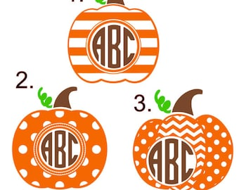 Thanksgiving Pumpkin Decals!