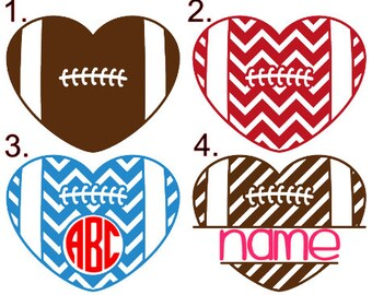 Football Love/Girlfriend Decal!