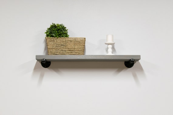 12 inch deep reclaimed style floating shelves kitchen plate etsy. Black Bedroom Furniture Sets. Home Design Ideas