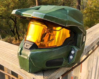 Halo Infinite Master Chief Wearable Helmet Full Size Spartan Cosplay Collectable Armor