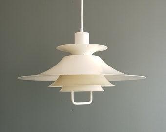 Danish design lamp, white Danish pendant, scandinavian ceiling light, white pendant, pendant lamp, mid century modern, design lighting