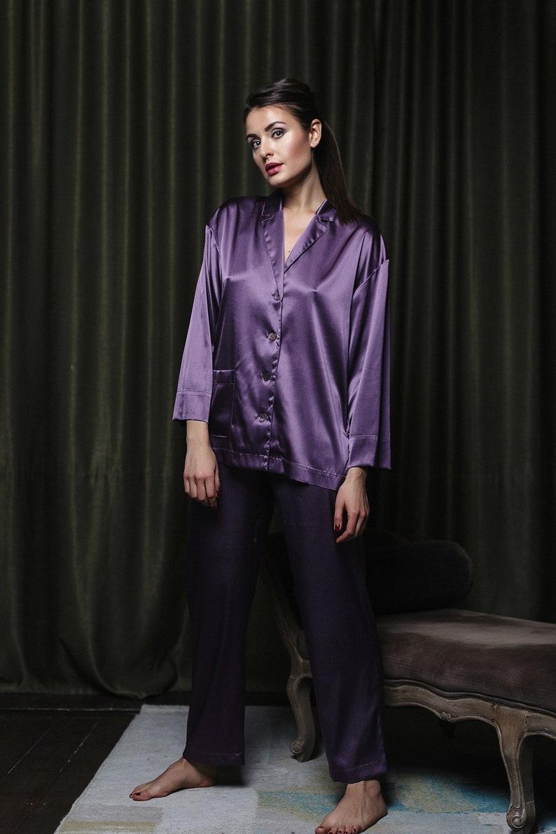Silk Pajamas Silk Loungewear Homewear Bridal PJs   Etsy