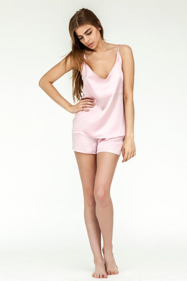 Chemise Silk Camisole Silk Lingerie Set Bride Pajamas  85f71dd5d