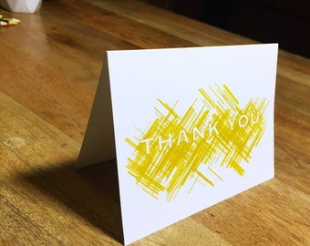 Golden Thank You Cards