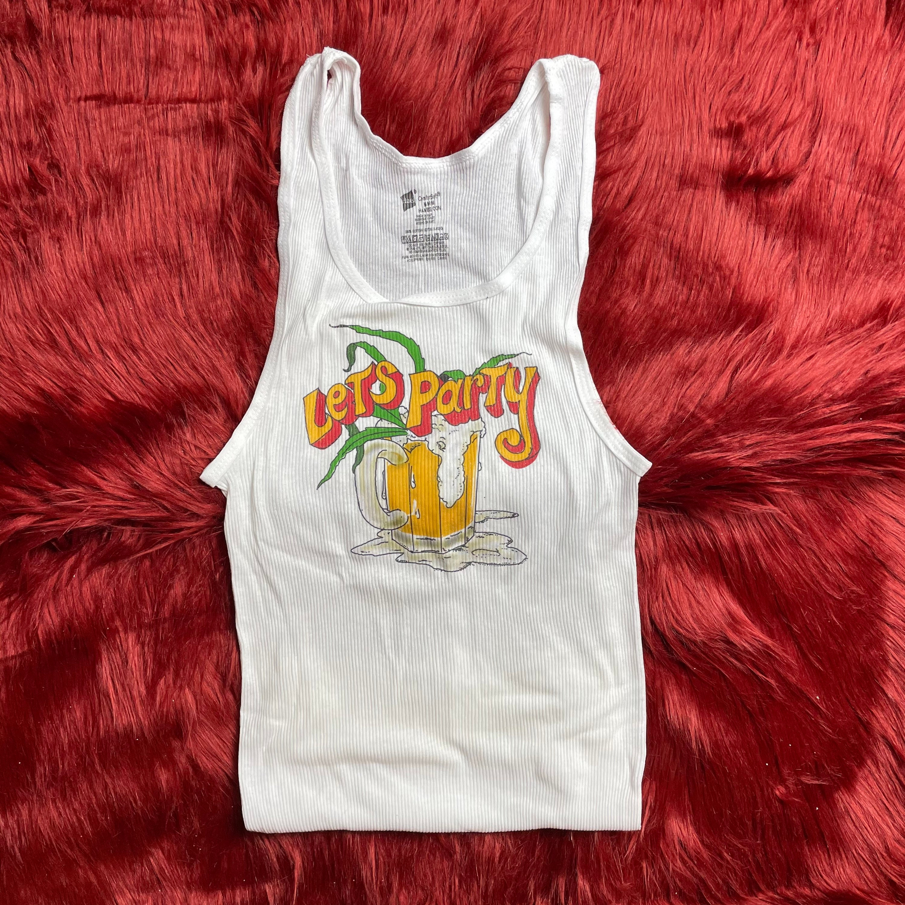 Ribbed Tank with DESTROYER Vintage Inspired Graphic