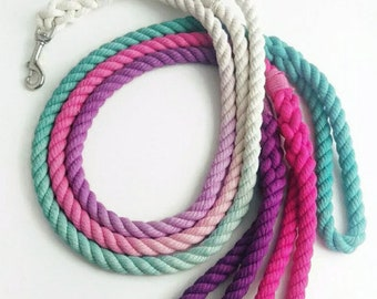 CHOOSE YOUR COLOR - Ombre Rope Dog Leash