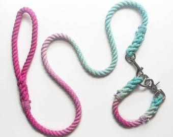 CHOOSE YOUR COLORS - Double Ombre Rope Dog Collar
