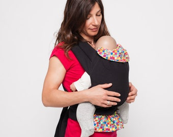 Baby-carrier Fleurs 100% biological cotton made in Lyon