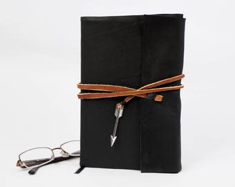 Mockingjay by Suzanne Collins Rebound in Black Leather, Handmade Book, Upcycled Book, The Hunger Games