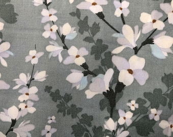 GARDEN 100/% cotton fabric material floral spring 112cm wide Botanic Tulip Flower