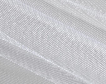 White Bridal Tulle Fabric, Bridal Tulle 3 meter width