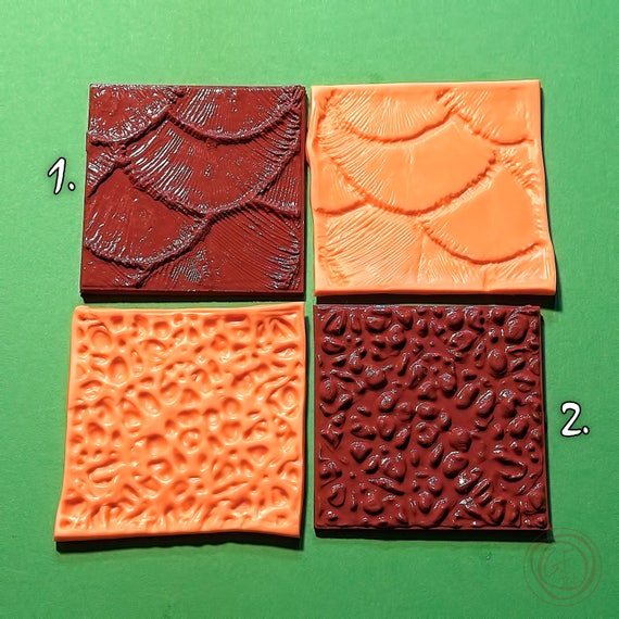 Polymer Clay Texture Plate Impression Stamp Polymer Texture Matt G.F.ArtTools Silicone stamp Silicone Mini Textures Set #4