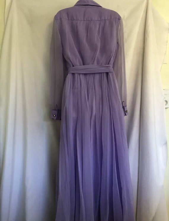 Vintage Lilac Dress with Jeweled Buttons - image 3